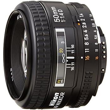 Nikon Obiettivo NikkorAF 50mm 1:1,4D , Nero [Versione EU]