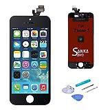SANKA LCD Touchscreen Display Ersatz Bildschirm Front Komplettes Glas für iPhone 5 -Schwarz