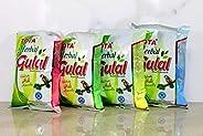 Tota 100% Natural Holi Rangoli Color Powder Gulal Gulaal - Herbal, Skin-safe & Non-Toxic (Pack of 4 Assort