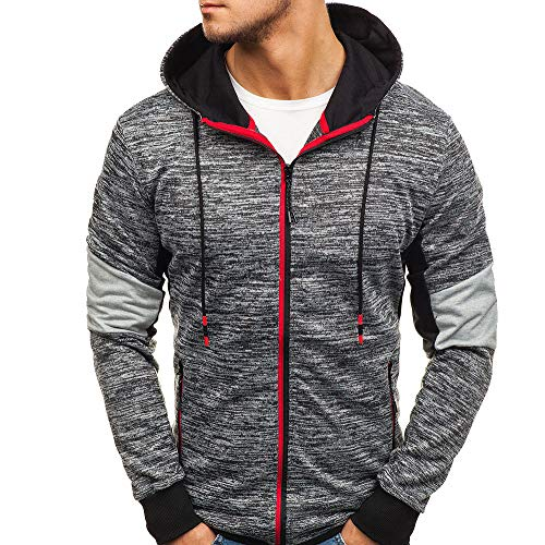 Luckycat Herren Herbst Winter Zip beiläufige Lange Hülsen-dünne Taschen-passende Hoodies Jacken Mantel Mode 2018