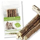 Katzenminze-Kaustäbchen Katzenspielzeug von KIRANDO - Die naturreinen Katzensticks in bester