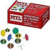 MTL 79218 - Pack de 100 chinchetas de colores
