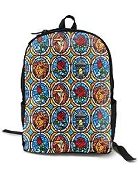 Backpack215 Mochila de Viaje con diseño de Cuento de Hadas de la Bella y la Bestia