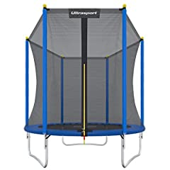 Idea Regalo - Ultrasport Uni-Jump Trampolino da Giardino Unisex Adulto, carica massima: 120 kg, Blu, 305 cm