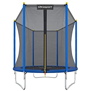 Ultrasport Garden Trampoline Uni-Jump, Kids Trampoline, Trampoline Complete Set Including Jumping Sheet, Safety Net, Padded Net Posts and Edge Cover, 120 in (305 cm)p, Kids Trampoline, Trampoline Complete Set Including Jumping Sheet, Safety Net, Padded Net Posts and Edge Cover, 120 in (305 cm)