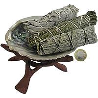 Indianisch schamanisch Räuchern 7-tlg Räucherset mit Salbei Zeder Beifuß + 12-14 cm Räuchermuschel + Zubehör +... preisvergleich bei billige-tabletten.eu