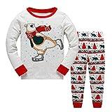 Garsumiss Jungen Mädchen Schlafanzug Weihnachten Kinder Pajama Langarm Herbst Winter Nachtwäsche 98 104 110 116 122 128 134