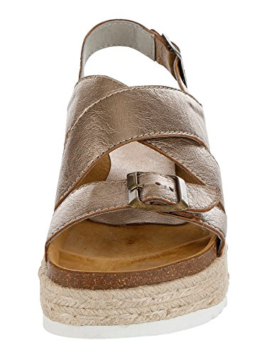 Damen Sandalette in Metallic-Optik by Alba Moda Bronze