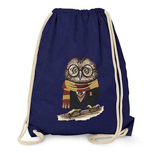 TEXLAB - Harry Owl - Turnbeutel, navy (Blau Wäsche-shirt Englisch)
