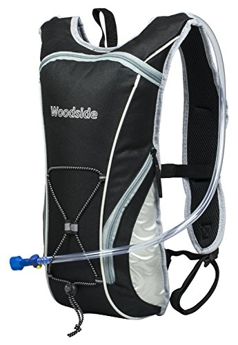 Woodside 2 Litre Hydration Pack Water Rucksack/Backpack/Cycling Bladder Bag Black