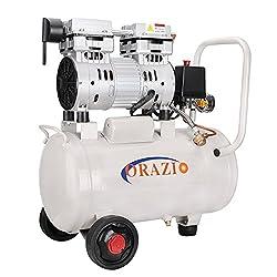 ORAZIO Ⓡ 241184 Low Noise Silent Oiless Air Compressor 65DB 220V 24L For Garage Clinic