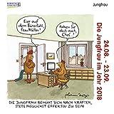 Jungfrau Mini 2018: Sternzeichenkalender-Cartoon - Minikalender im praktischen quadratischen Format 10 x 10 cm.