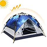 Tienda de Campaña Familiar automática Impermeable de Doble Capa para 2 – 3 Personas al Aire Libre, Senderismo, Camping, Playa