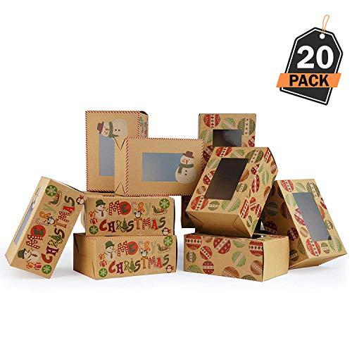 20 Cajas Regalo Navidad - Cajas Kfraft Galletas, Donas
