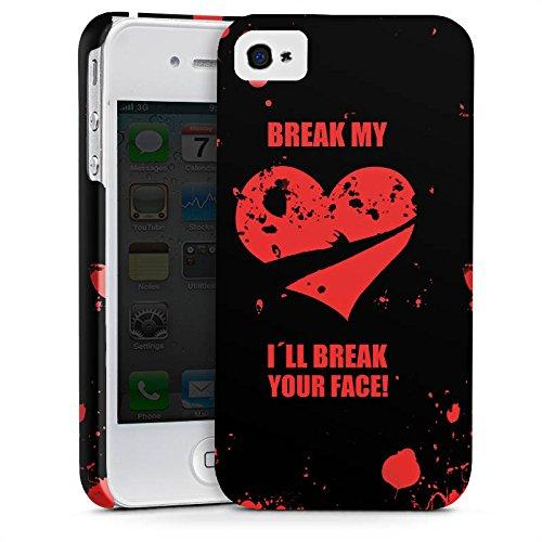 Apple iPhone X Silikon Hülle Case Schutzhülle Herz Heartbroken Liebeskummer Premium Case glänzend