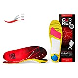 CURREX CleatPro Sohle – Fußball Einlegesohlen für mehr Kontrolle und explosiven Antritt - Dynamische Performance Sport Einlagen für Fußballschuhe oder Stollenschuhe - Low Profile - Gr EU 44,5-46,5