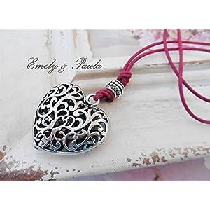 Herzkette mit Lederband