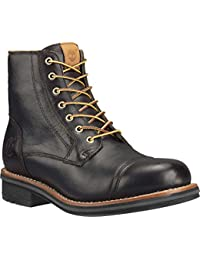 Timberland Men Brown Solid High-Top Willoughby Leather Flat Boots