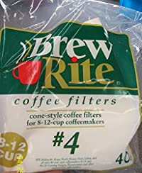 Brew Rite Cup Cone Style Coffee Filters