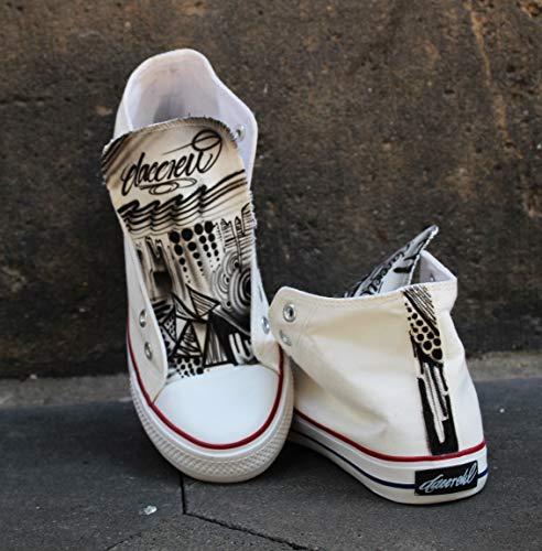 Dac Crew Custom Airbrush Canvas Sneaker
