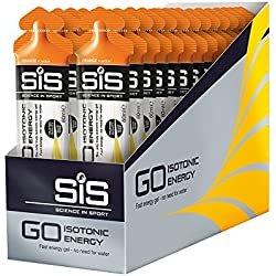 Science in Sport Caja de 30 Geles Isotónicos, Sabor Naranja - 30 x 60 ml - Total: 1800 ml