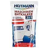 Heitmann Maschinen Entkalker für Waschmaschinen und Geschirrspüler: hochwirksame Entkalkung mit 1 Durchlauf, sofort gebrauchsfähig, schmutzlösend, gegen Kalkablagerungen und unangenehme Gerüche 1 x 175g