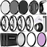 Neewer® Kit accesorio de filtros 58 MM lente completa para lentes de tamaño de filtro 58 MM: kit de filtro UV CPL FLD + Set Macro Close Up (+ 1 + 2 + 4 + 10) + Set de Filtros ND (ND2 ND4 ND8) + otros accesorios
