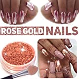#9: Stylazo 2g Rose Gold Nail Mirror Metallic Effect Chrome Powder Dust Pigments Nail Art Decoration