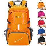 ZOMAKE Leggero Zaino Viaggio, 35L Zaino Trekking Idrorepellente Pieghevole Daypack per Viaggio Hiking (Arancione)