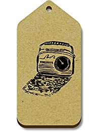 10 x 'Retro Radio' 66mm x 34mm Gift / Luggage Tags (TG00007952)