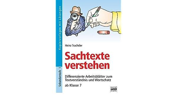 Brigg: Deutsch: Sachtexte verstehen: Differenzierte Arbeitsblätter ...