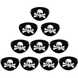 Parche para capitán pirata, 10 unidades.