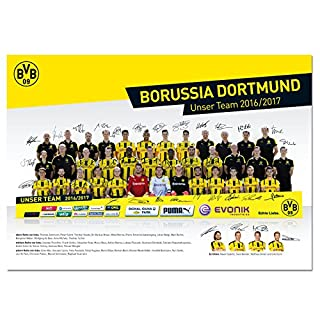 Borussia Dortmund BVB-Mannschaftsposter 2016/17 m. gedr. U one Size