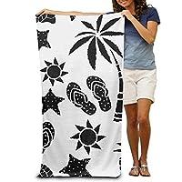 vbcnfgdntdy Sun Palm Tree Pineapple Flip Flop Sandals Beach Towel