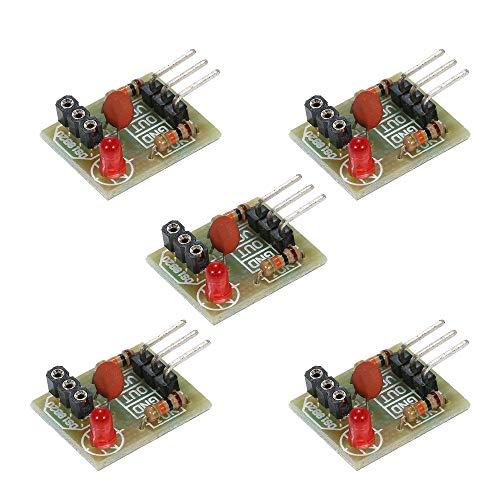 KKmoon 5 Stücke Mini Sensor Module Board für Arduino Laser Empfänger Sender Module 5 V Nichtmodulatorröhre