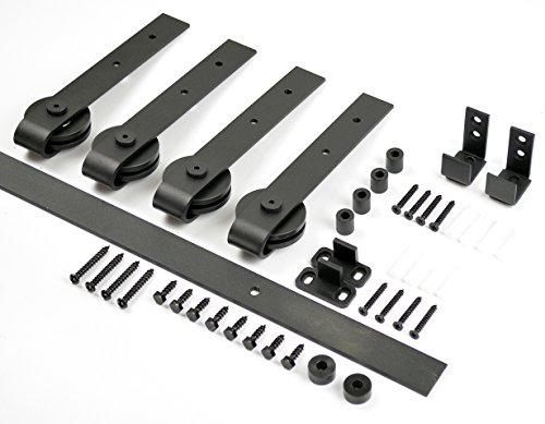 aihom 1220mm Mini Schiebetüren Schrank Double Scheunentor Hardware für 2 (Schrank-schiebetür-hardware)