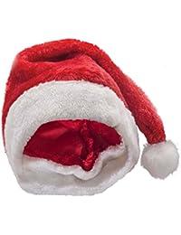 Must-Have Accessoires wie Nikolaus Weihnachstmannkostüm / Weihnachtsmann-Strickmütze mit Bart - für Erwachsene und Kinder / crazy Nikolausmützen mit LED und mehr (Mütze Rot Weiß)