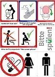 Saubere Toilette Aufkleber Bundle: Sitzen pinkeln