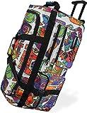 Leichte und Robuste Sport und Reisetasche mit tollem Design und Rollen Farbe Picasso