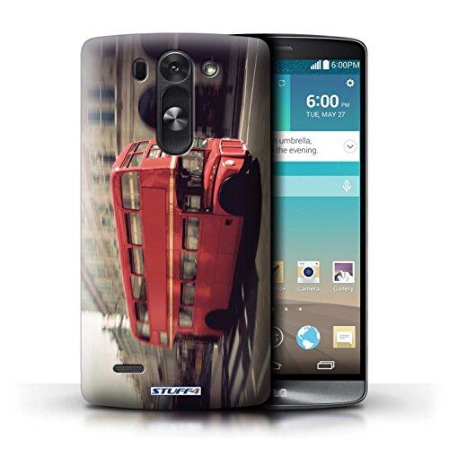 Kobalt® Imprimé Etui / Coque pour LG G3 S (Mini)/D722 / Rouge Bus conception / Série Londres Angleterre Rouge