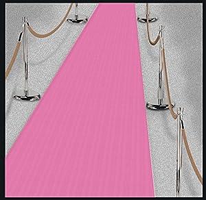 Amscan International-340150suelo decorationflr Runner rosa día en París