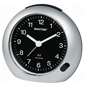 maxitime radio controlled alarm clock watches. Black Bedroom Furniture Sets. Home Design Ideas