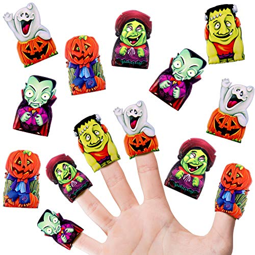 German Trendseller 12 x Halloween - Finger Puffy´s Fingerpuppen ┃ Grusel Mix ┃12 Stück