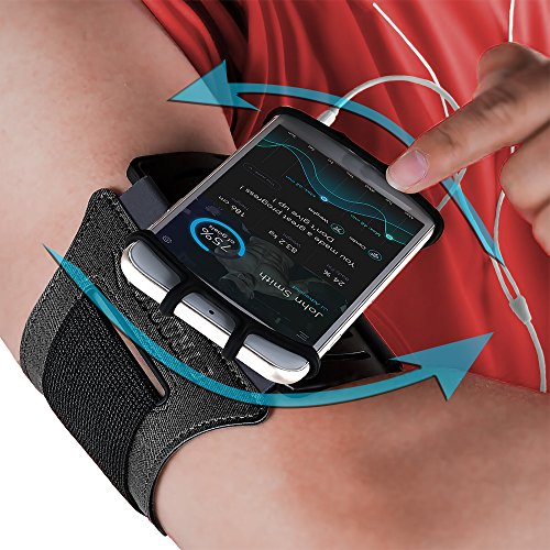 Sport-Armband: Handy-Halterung, Arm-Armband, Tasche für Handy, Training, Laufen, Workout für Apple iPhone 6 6S 7 8 X Plus Touch Android Samsung Galaxy S5 S6 S7 S8 S9 Note 8 5 Edge Pixel (drehbar) Generation Sport Armband