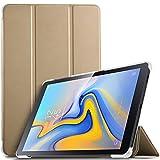 IVSO Coque Etui Housse pour Samsung Galaxy Tab A 10.5 SM-T590/T595, Slim Cover Housse de Protection avec Auto Réveil/Sommeil pour Samsung Galaxy Tab A SM-T590/SM-T595 10.5 2018, Or