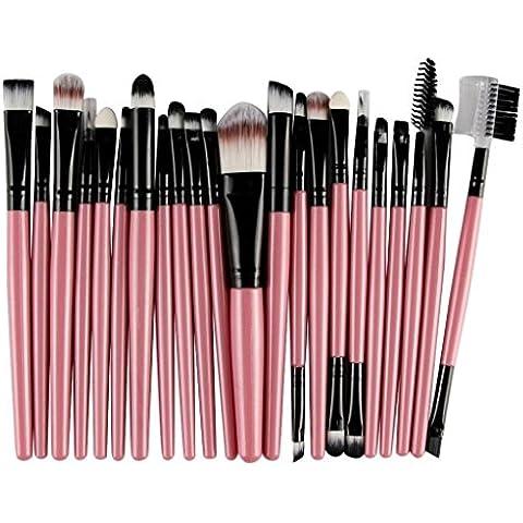Tongshi 22 PC / sistema de cepillo del maquillaje Herramientas Maquillaje de Tocador Kit de lana componen el sistema de cepillo (Rosado)