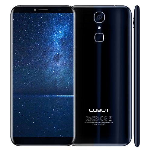CUBOT X18 - Smartphone Libre 4G Android 7.0, (Pantalla táctil 5.7' HD, 3200mAh batería, 3GB Ram + 32GB ROM, Quad core, Dual SIM, Cámara 16Mp, 1.5 GHz), color azul[ CUBOT OFICIAL ]