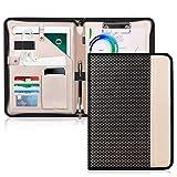 Toplive Schreibmappe Leder A4 mit Reißverschluss Portfolio Dokumenten aus...