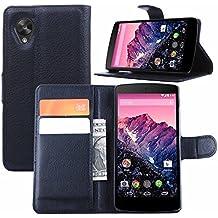 Guran® Funda de Cuero Para LG Nexus5 Smartphone Tirón de la Cubierta de la Función de Ranura Tarjetas y Efectivo Caso