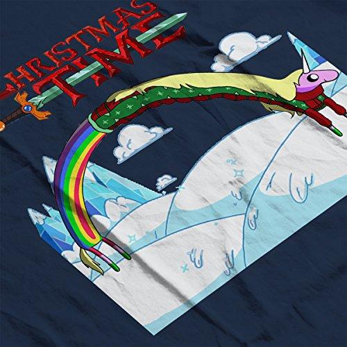 Adventure Christmas Time Lady Rainicorn Ice World Cartoon Network Men's Vest Navy Blue